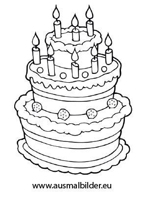 Torte Für Hochzeit by Ausmalbild Geburtstagstorte Coloring 4