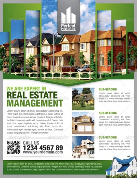 real estate free flyer templates 13 real estate flyer templates excel pdf formats