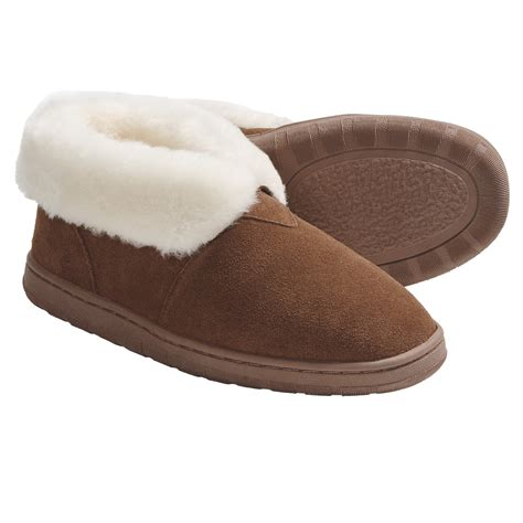 bootie slippers lamo footwear bootie slippers suede wool lined for