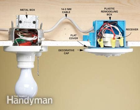 pull string light switch mechanism install a wireless light switch the family handyman