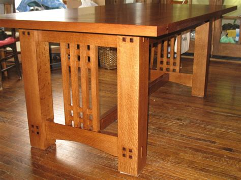 arts crafts inspired dining table finewoodworking