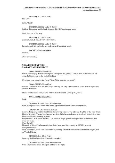 quills movie script guardians of the galaxy movie transcript movie script of