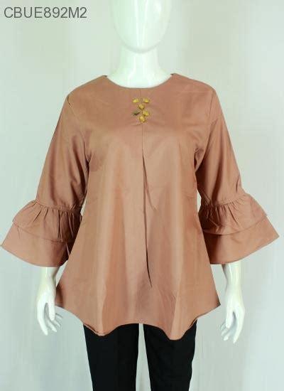 Blouse Lonceng Batik 1 atasan blouse katun ima polos lengan lonceng salia blus