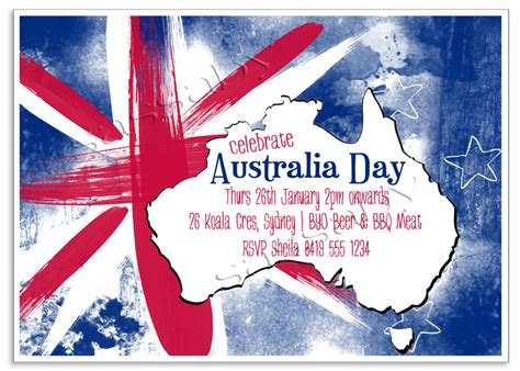 free printable birthday invitations australia australia day invitation sassaby parties