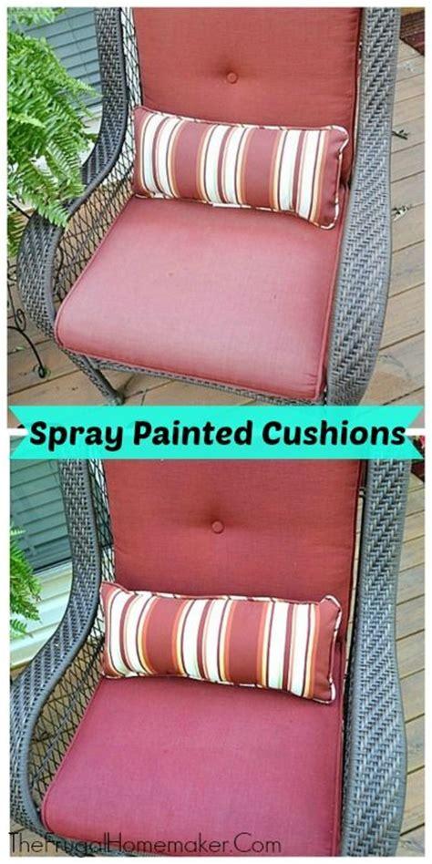 spray painting outdoor cushions diy saturday spray paint those faded outdoor cushions