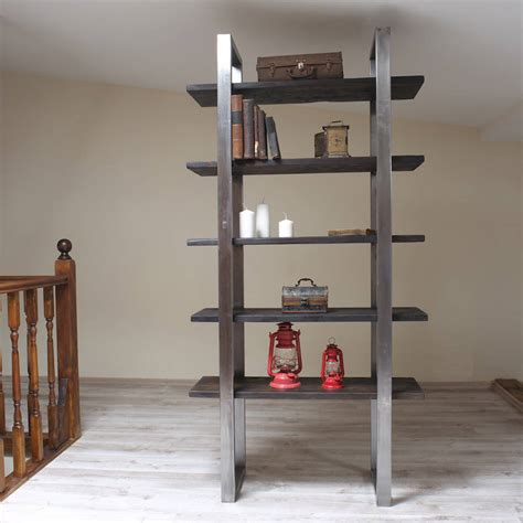 industrial style freestanding shelving unit by cosywood