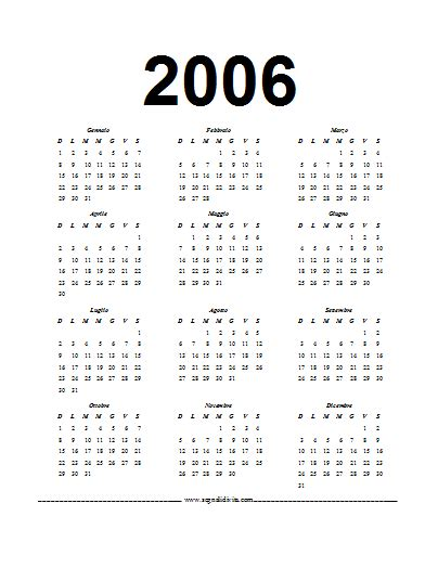 Calendario Ano 2006 Pin Calendario 2006 On