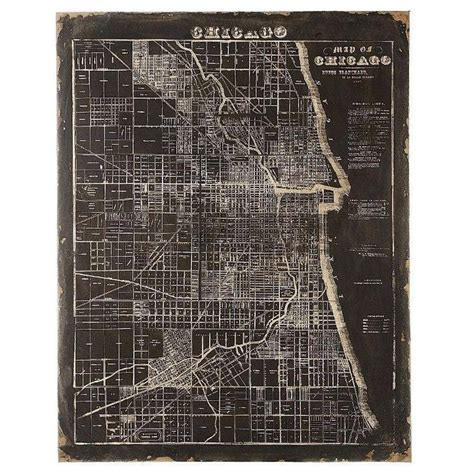 Home Decorators Collection Chicago Home Decorators Collection 45 In H X 35 5 In W Mdf And Canvas Map Of Chicago Wall