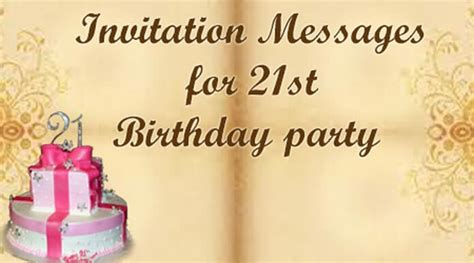 21st birthday invitation sms invitation messages for 21st birthday best message