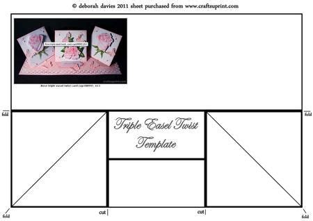 twist and pop card template easel twist card with matt layers template on