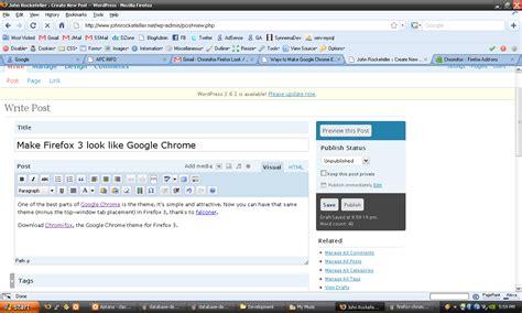 Chrome Theme To Firefox | chrome theme like firefox make firefox 3 look like google