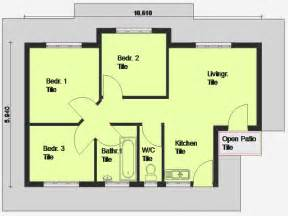 House Blueprints Free Cheap 3 Bedroom House Plan 3 Bedroom House Plan South