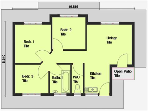small 3 bedroom house floor plans cheap 3 bedroom house plan 3 bedroom house plan south