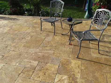 Travertine Patio Pavers Scabos Travertine Pattern Antique Gold Travertine Pattern Tumbled Paver Patio