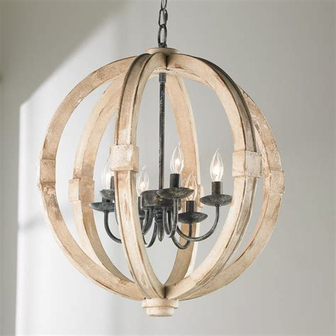 distressed wood chandelier distressed wood sphere chandelier shades of light