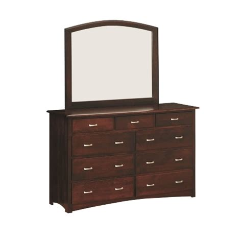 Country Mission Mule Dresser Mirror - mule chest mirror amish handcrafted bedroom