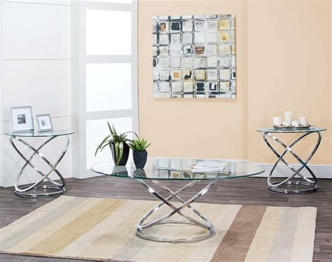 silver and glass end tables glass metal coffee and side tables gyro 3 table