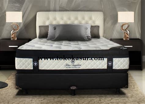 Central Springbed Blue Saphire Plush Top 100x200 Matras Only bed central central springbed harga central central deluxe central sport