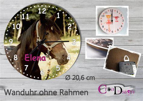 kinderzimmer bild pferd creadesign onlineshop design pferd original wanduhr
