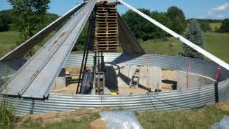 Building A Home by Grain Bin House Natural Building Forum At Permies