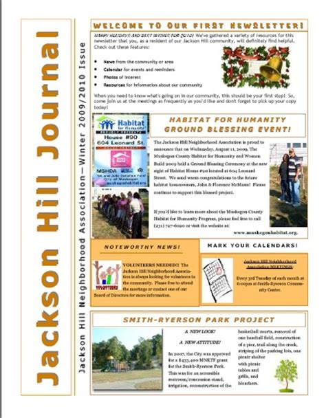 neighborhood newsletter template 9 best poa images on