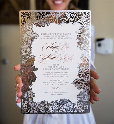 super unique laser cut wedding invitations modwedding