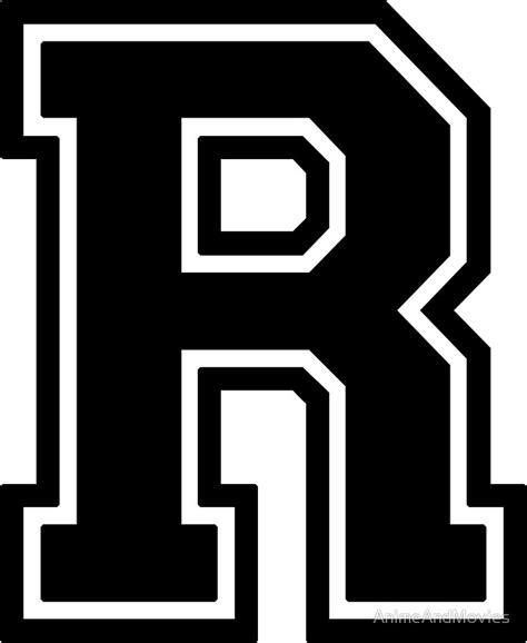 printable varsity font quot letter quot r quot varsity collegiate font black print