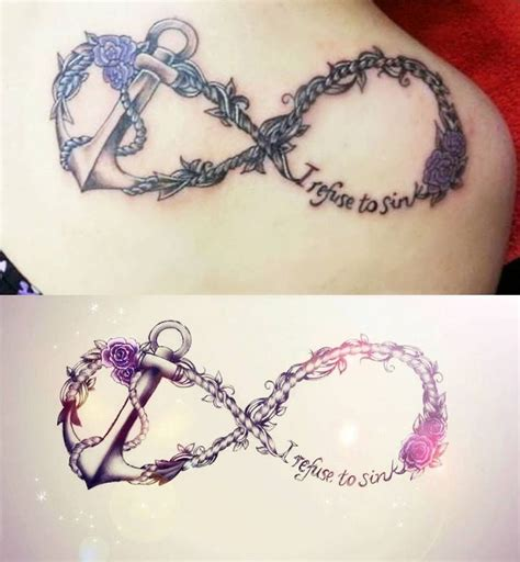 cute infinity tattoos drawing anchor infinite