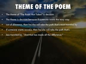 meaning and themes of poetry the road not taken by robert frost by roberthang7