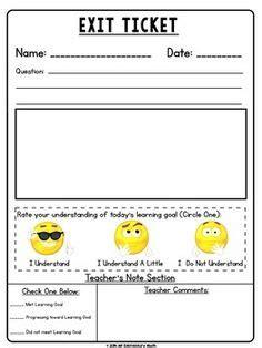 printable exit tickets title exit ticket emoji description end of lesson task