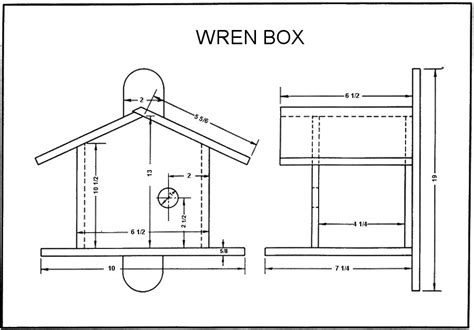 Wren Bird House Plans Craftybirds Com Wren House Plans