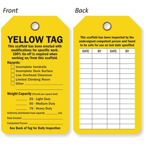 printable scaffold tags scaffold tag erected with modifications for specific