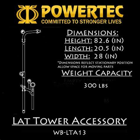Powertec Workbench Olympic Bench by Powertec Fitness Lat Tower Accessory Wb Lta14