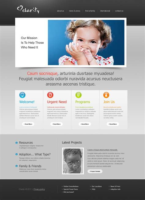 charity site templates charity website template 35825