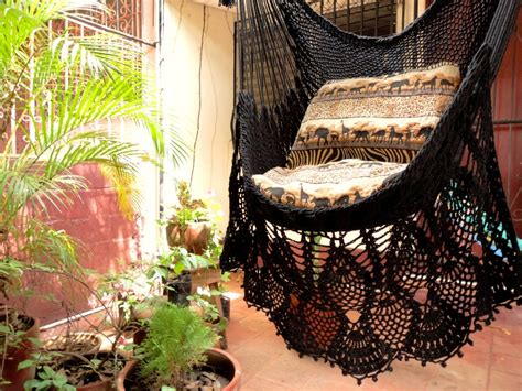 sitting hammock black sitting hammock hanging chair natural cotton and by