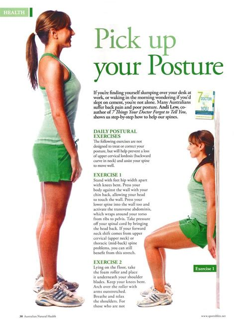 7 Tips For Improving Your Posture by Simple Posture Exercises That You Can Do Without A