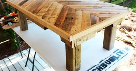 Handmade Outdoor Wood Furniture - pallet wood coffee table hometalk