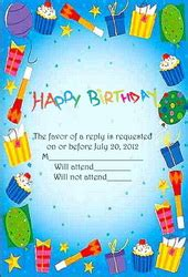 birthday card template word 2007 free birthday response cards templates clip and