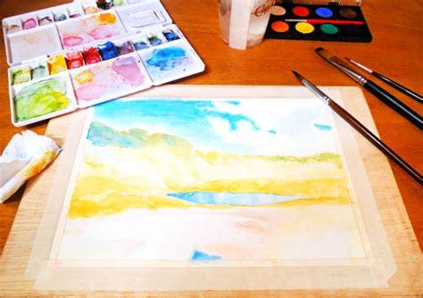 como pintar con acuarelas como pintar un paisaje monta 241 oso con acuarelas