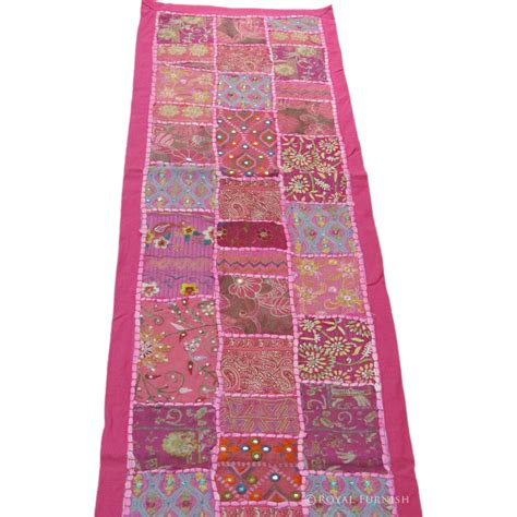 Patchwork Runner - pink decorative indian patchwork table runner tapestry