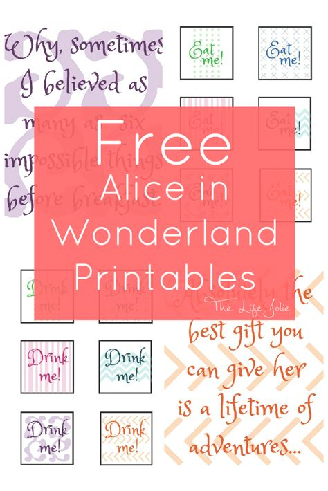 printable pictures alice in wonderland alice in wonderland signs and free printables free