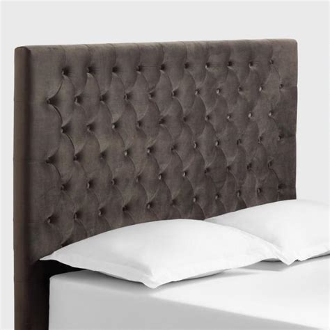 Where To Buy Tufted Headboard by Charcoal Gray Jaelyn Tufted Headboard World Market