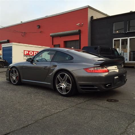 grey porsche 911 turbo 2007 porsche 997 turbo grey