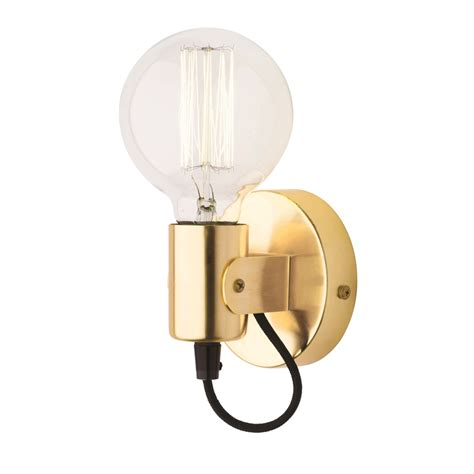mercator 240v bronte e27 brass wall light bunnings warehouse