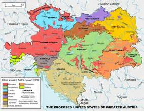 proposed map of the united states of greater austria 1906