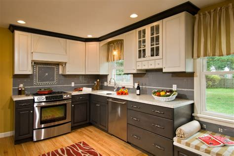 Colored Kitchen Cabinets by Multi Colored Kitcvhen Traditional Kitchen Other