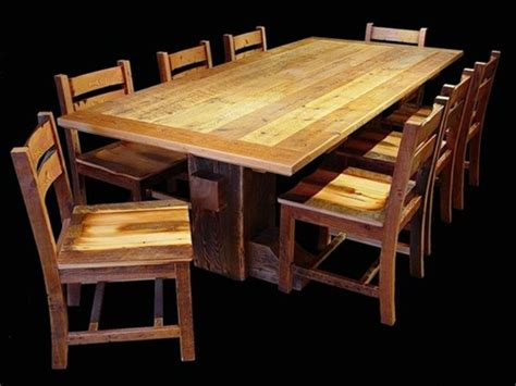 reclaimed wood dining room set sleeper warehouse 187 sleeper warehouse