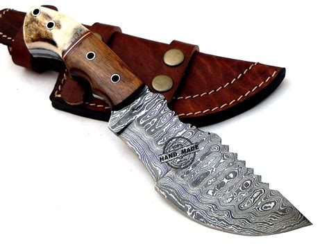Handmade Damascus Knives - new damascus tracker knife custom handmade damascus steel