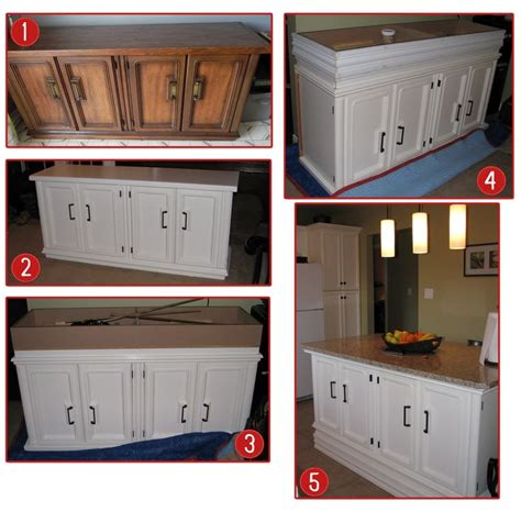how to make your own kitchen island steps to your own kitchen island 1 find an buffet server found this one on kijiji