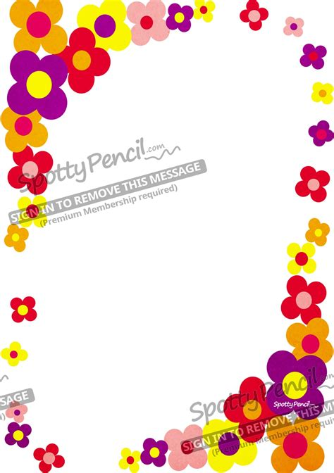 Free Border Designs For A4 Size Paper Flowers Cliparts Co Flowers A4 Page Borders